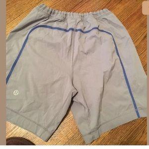 Lululemon Mens Run Pace Breaker Short  Zip Pocket